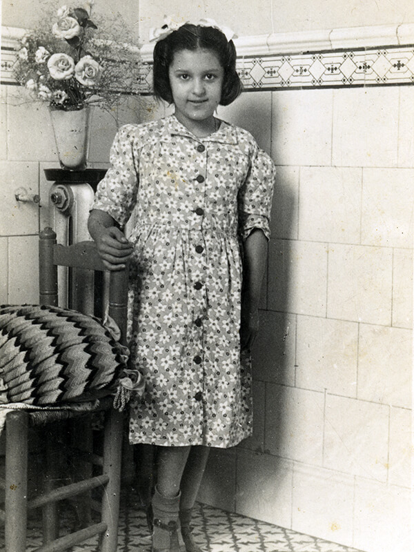 A l'Asilo San Rafael, l'Amparo tenia uns 8 o 9 anys