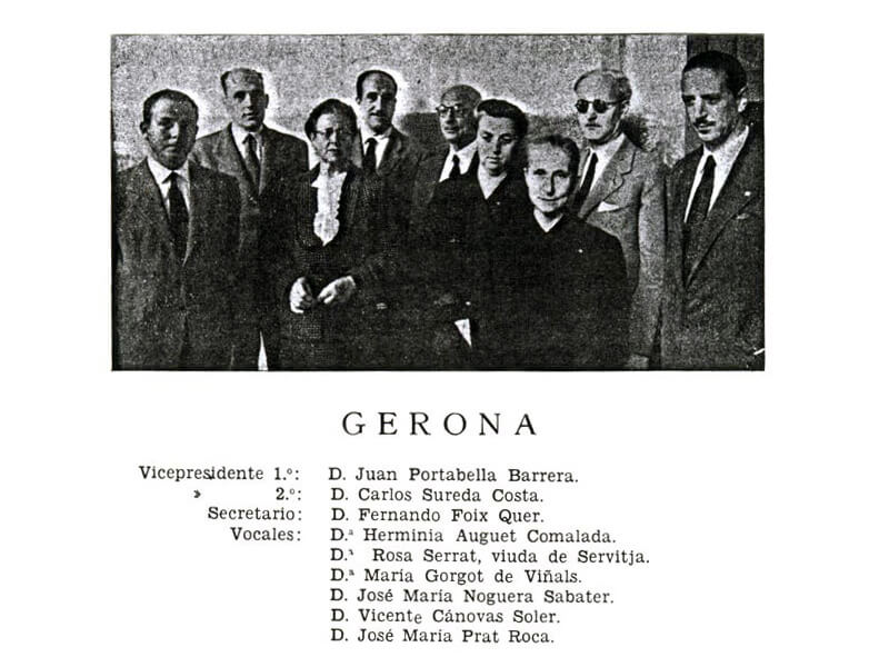 Junta Provincial de Gerona. 1950-51